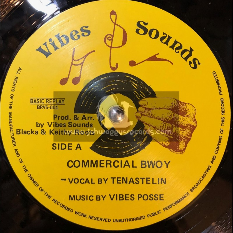 """Vibes Sounds-12""""-Commercial Bwoy + Burial Tonight / Tena Stelin"""