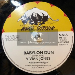 "Head Strong-12""-Babylon Dun / Vivian Jones + Hard Shell / Vin Gordon"