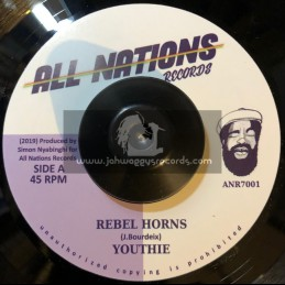 """All Nations Records-7""""-Rebel Horns / Youthie + Rebel Dub / Simon Nyabinghi"""
