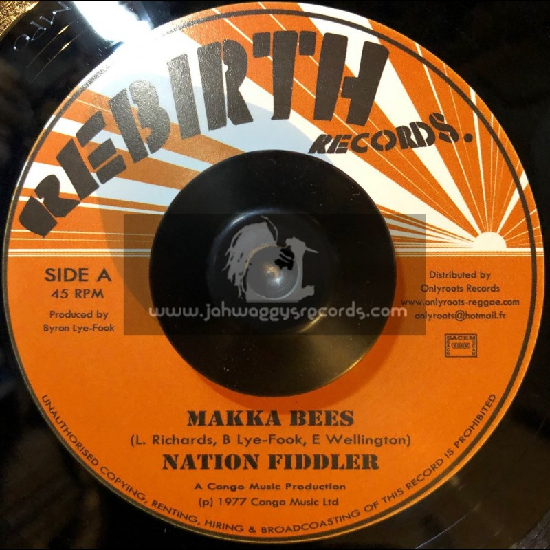 "Rebirth Records-7""-Fire / Makka Bees (1977 Congo Music)"