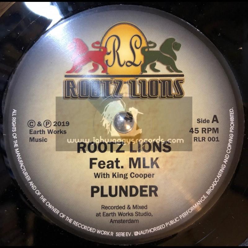 "Rootz Lions-7""-Plunder / Rootz Lions Feat. MLK"