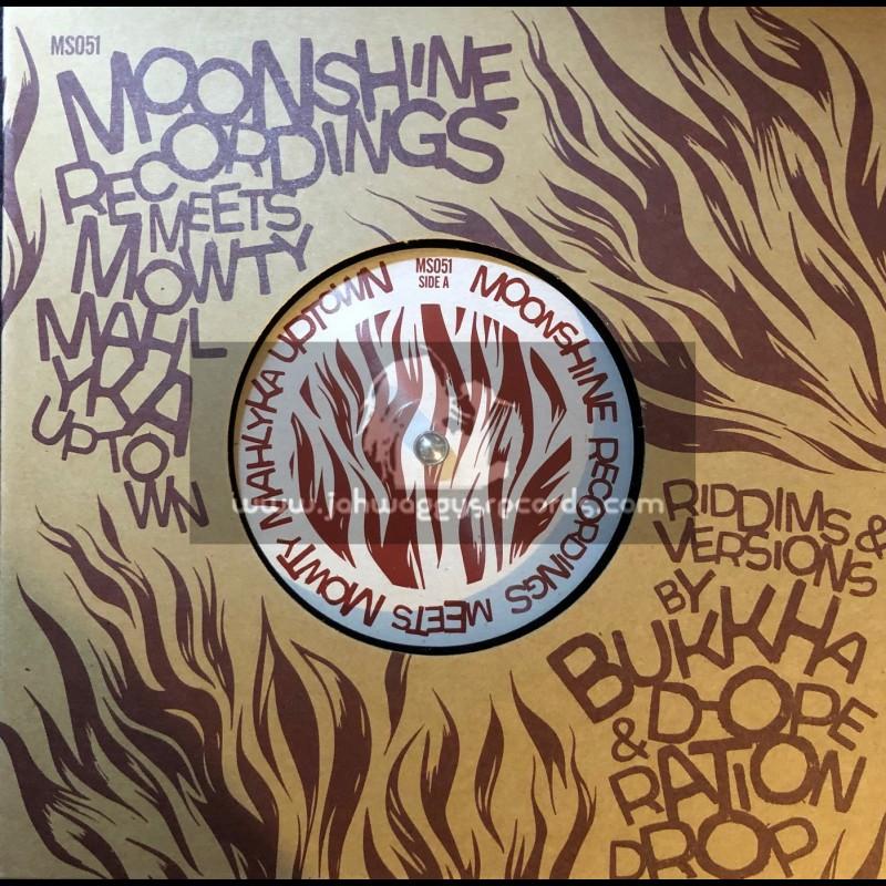 "Moonshine Recordings-Double 7""-Give Dem Di Fire / Bukkha & Mowty Mahlyka + Dem Haffi Run / D-Operation Drop & Mowty Mahlyka"