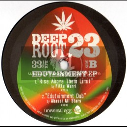 """Deep Root-10""""-Edutainment ep / Rudi Lee , Daddy Roots , Fitta Warrior (Abassi All Stars)"""