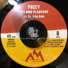 """Ancient Mountain Records-7""""-Joy And Pleasure / Pacey Feat. Dr Ring Ding"""