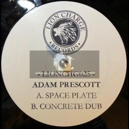 "Lion Charge Records-12""-Space Plate / Adam Prescott + Concrete Dub / Adam Prescott"