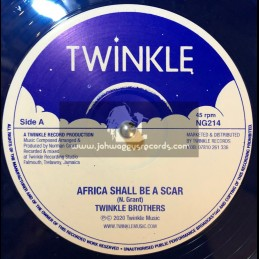 """Twinkle Records-12""""-Africa Shall Be A Scar / Twinkle Brothers + Nah Eat Can't Sleep / Twinkle Brothers"""
