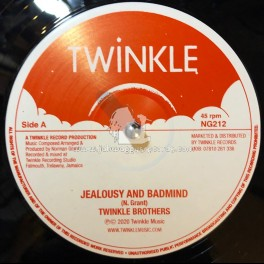 """Twinkle Records-12""""-Jealousy And Badmind / Twinkle Brothers + Cross Over It / Twinkle Brothers"""