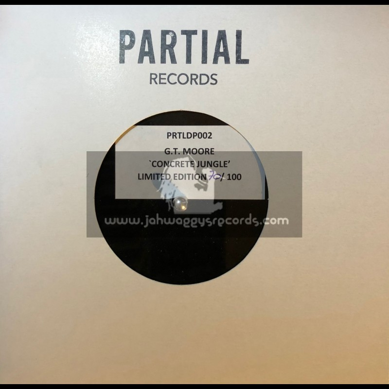 Partial Records-7-Lathe Cut One Sided Dubplate-Concrete Jungle / G.T. Moore