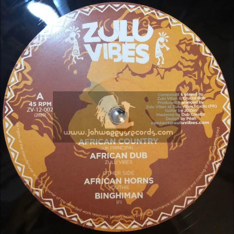 """Zulu Vibes-12"""" -African Country / UK Principal + African Horns / Youthie"""