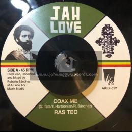 """Jah Love- 7"""" -Coax Me / Ras Teo"""