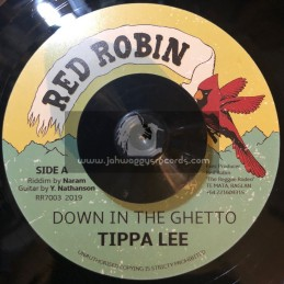 """Red Robin-7""""-Down In The Ghetto / Tippa Lee"""