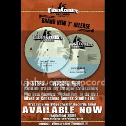 """VIBES CREATOR RECORDS 7""""-WICKED MEN-FU STEPS"""