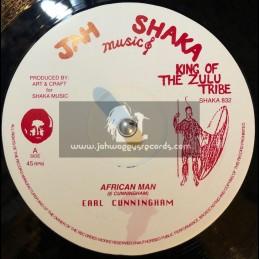 "Jah Shaka Music-12""-African Man / Earl Cunningham"