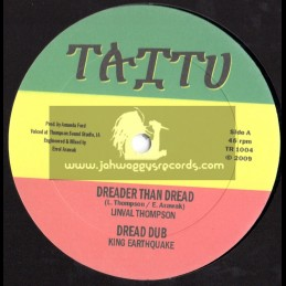 "TAITU RECORDS-10""-DREADER THAN DREAD/LINVAL THOMPSON + SOME A DEM/PRINCE ALLA(RIDDIMS-KING EARTHQUAKE)"