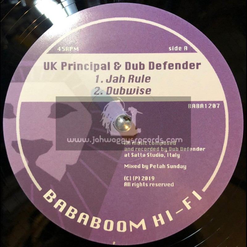 """Bababoom Hi Fi-12""""-Jah Rule / UK Principal + Babylon Judgement Fire / Ramon Judah"""