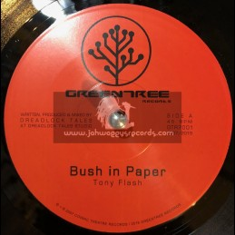"Green Tree Records-7""-Bush In Paper / Tony Flash + Version / Dreadlock Tales"