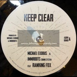 "Dub O Matic-7""-Keep Clear / Michael Exodus & Immroots Sound System Feat. Ranking Fox"