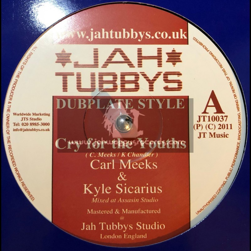 """Jah Tubbys-10""""-Cry For The Youths/Carl Meeks(Kyle Sicarious) + African Postman/King Simeon & Kyle Sicarious"""