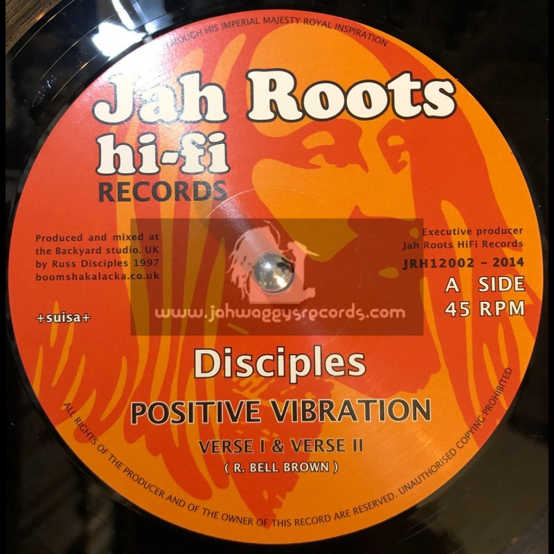 "Jah Roots Hi Fi Records-12""-Positive Vibration + Humble Lion / Disciples"