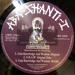 "Aba Shanti I-12""-Gain Knowledge And Wisdom Ep / Blood Shanti & The Shanti Ites"
