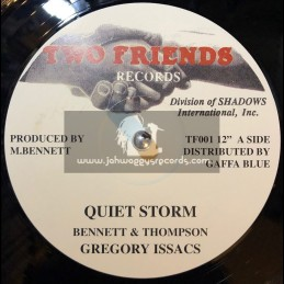 """Two Friends Records-12""""-Quiet Storm / Gregory Issacs"""