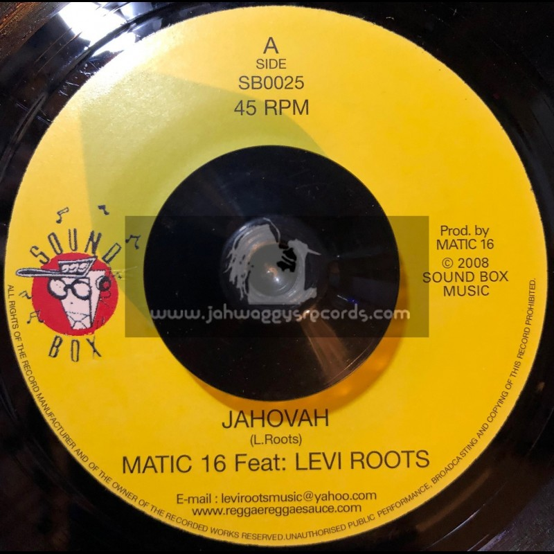 """Sound Box-7""""-Jahovah / Levi Roots Feat Matic 16"""