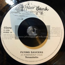 """RIVERBANK RECORDS-7""""-FLYING SAUCERS / TENA STELIN"""