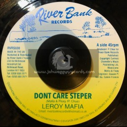 "River Bank Records-7""-Dont Care Stepper / Leroy Mafia"