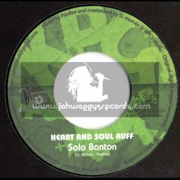 "Livity Reggae-7""-Heart And Soul Ruff / Solo Banton + Baby Girl / JR Culture"