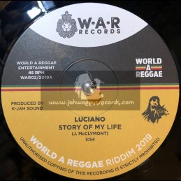 """World A Reggae Records-7""""-Story of my life / Luciano + The Apple / Runkus"""