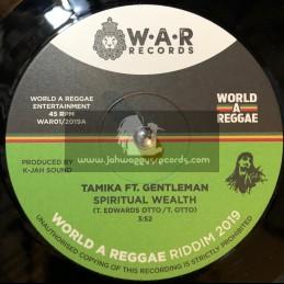 "World A Reggae Records-7""-Spiritual Wealth / Tamika Ft. Gentleman + Archetype / Kamau Imhotep"