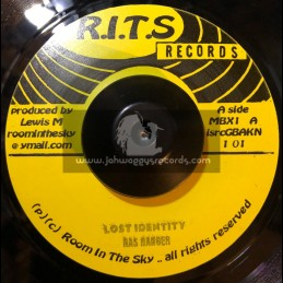 """Room In The Sky-7""""- Lost Identity / Ras Ranger + Ten To One / Ras Ranger And AJ Franklin"""