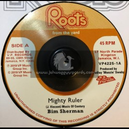 """Roots From The Yard-7""""-Mighty Ruler / Bim Sherman + Jah Jah Man Style / The Revolutionaries"""