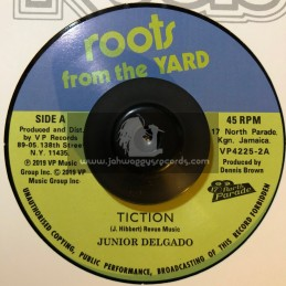 """Roots From The Yard-7""""-Tiction / Junior Delgado + Version / D.E.B Players"""