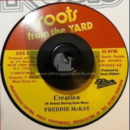 """Roots From The Yard-7""""-Creation / Freddie Mckay + I Man / Freddie Mckay"""