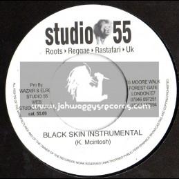 """Studio 55-7""""-Black Skin Instrumental + Dub Mix"""