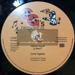 """GG's Records-12""""-Come Together / Freddy McKay & Trinity + Sha-La Mar Rockers / GG's All Stars"""