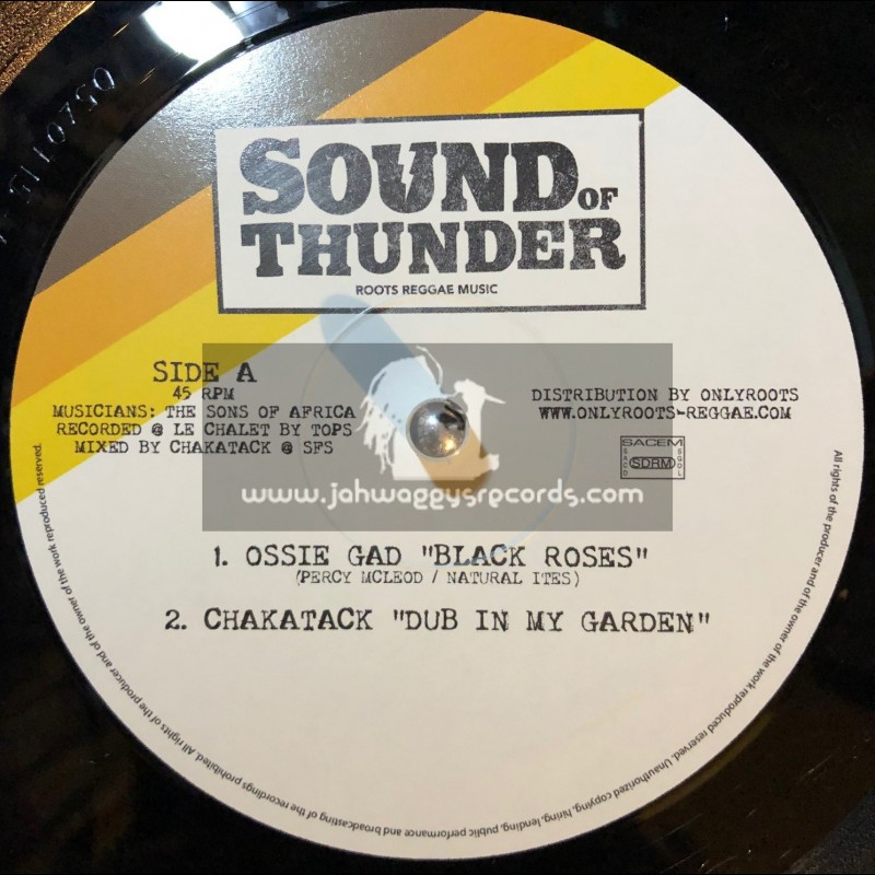 """Sound Of Thunder-12""""-Black Roses / Ossie Gad + Drifter / Ossie Gad"""