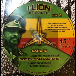 "I Lion Records-12""-Roots And Culture / Earl 16"
