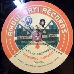 """Amoul-Bayi Records-12""""-Kinsoundi Barrage / Nzolani Brothers + Liar & Thief / Galas"""