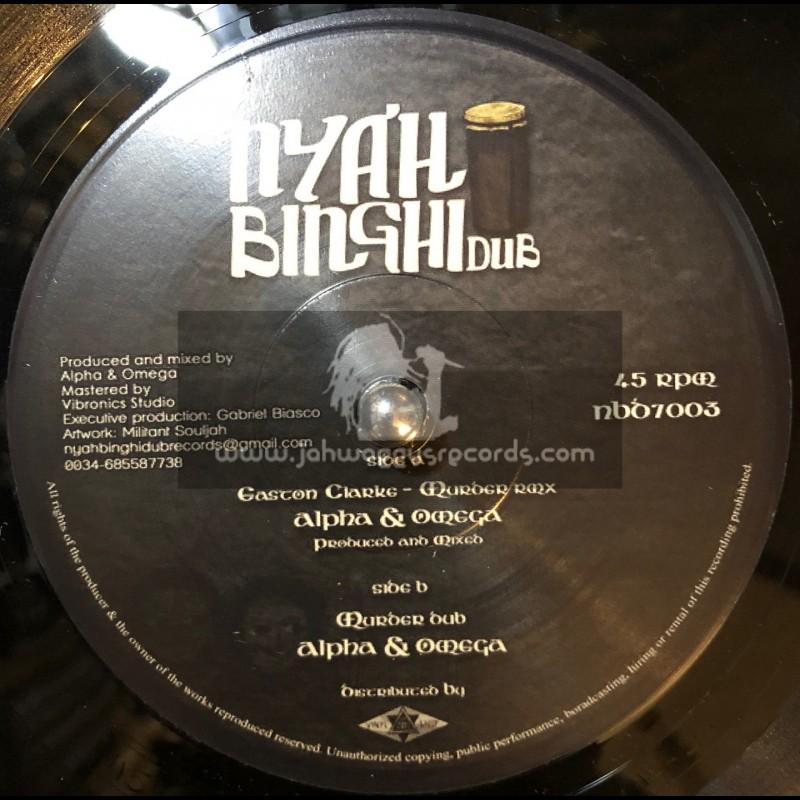 "Nyahbinghi Dub-7""-Murder Rmx / Easton Clarke  + Murder Dub / Alpha & Omega"