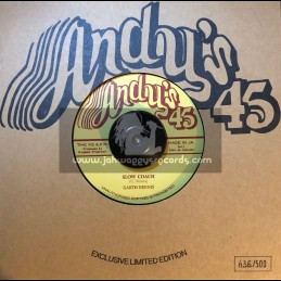 """Andy's-7""""-Slow Coach / Garth Dennis + Stage Coach Rock / Andys All Stars"""