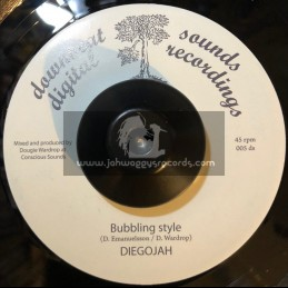 "Downbeat Sounds Digital Recordings-7""-Bubbling Style / Diegojah"