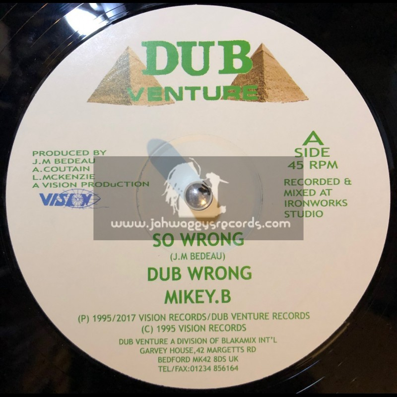 """Dub Venture-12""""-So Wrong / Mikey B + Just The Two Of Us / Mikey B"""