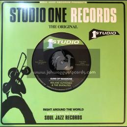 """Studio One Records-7""""-Guns Of Navarone / Roland Alphonso & The Skatalites + Sauvito / The Skatalites"""