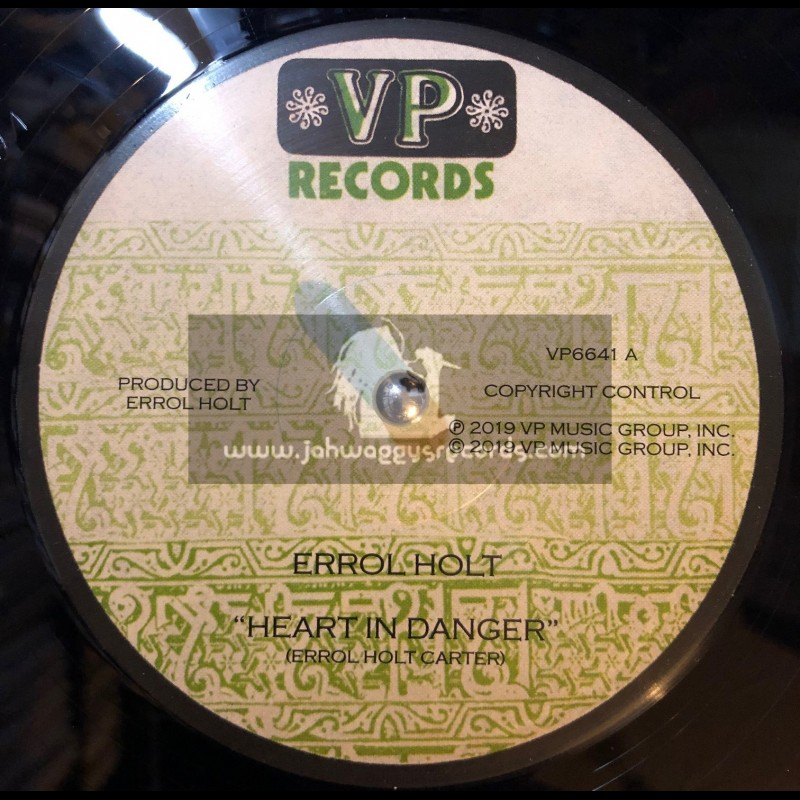 """VP Records-12""""-Heart In Danger / Errol """"Flabba"""" Holt + Created By The Father / Errol Dunkley & I Roy"""