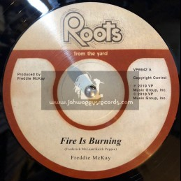 "Roots From The Yard-12""-Fire Is Burning / Freddie McKay + Lonely Man / Freddie McKay"
