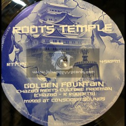 """Roots Temple-7""""-Golden Fountain / Chazbo Meets Culture Freeman"""