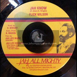 "Jah All Mighty-7""-Jah Know / Flick Wilson"