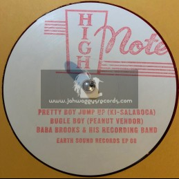 """Earth Sound Records-High Note-10""""-Pretty Boy Jump Up + Bugle Boy , Peanut Vendor / Baba Brooks And His Recording Band"""